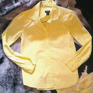 J. Crew Polka Dot Cotton Button Shirt